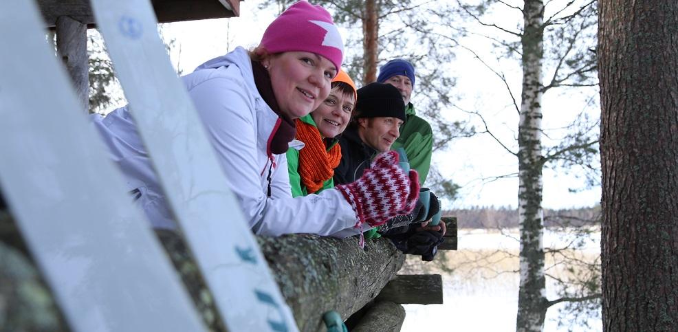 ankkurin terassilla hiihtäjät rajattu