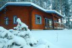 koukku mökki talvi lumi jokiniemen matkailu lakeland finland